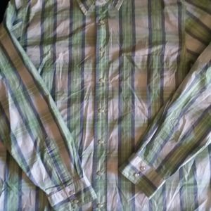 Green Plaid Shirt with Snaps
